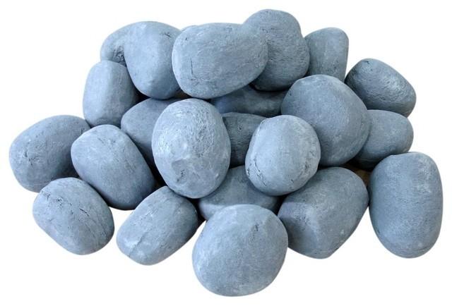 grey ceramic pebbles 24pcs